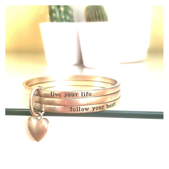 Follow your heart charm bracelet